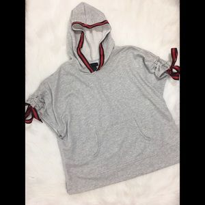 Steve Madden Hooded Pullover, Gray, One Size